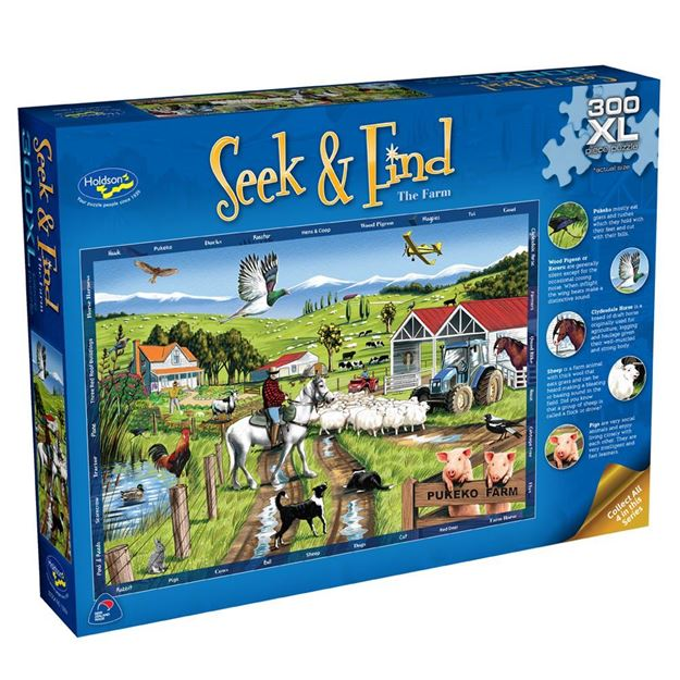 Picture of Holdson Puzzle - Seek & Find 300XL pc (The Farm)