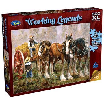 Picture of Holdson Puzzle - Working Legends 500pc XL - (Can I Come Too?)