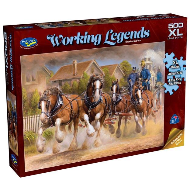 Picture of Holdson Puzzle - Working Legends 500pc XL - (Firestorm Four)