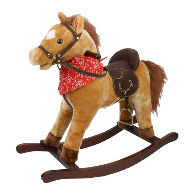 Picture of Horses - Tan Rocking Horse