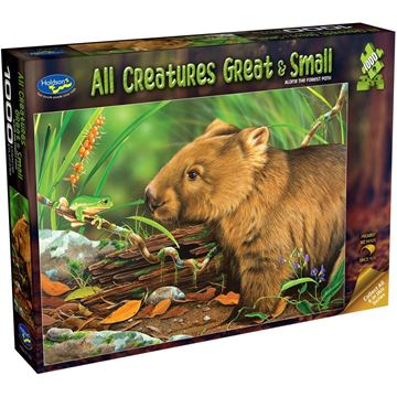 Picture of Holdson Puzzle - All Creatures Great & Small, 1000pc (Along the Forest Path)