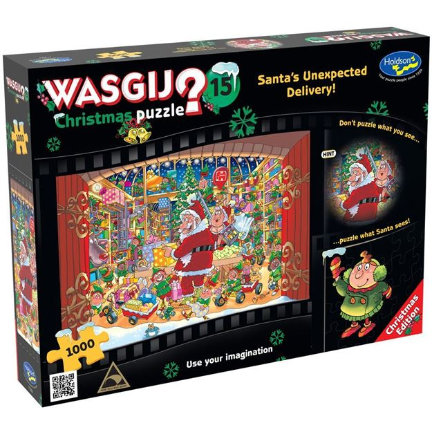 Picture of Holdson Puzzle - Wasgij Christmas 15 - 1000pc (Santa's Unexpected Delivery!)