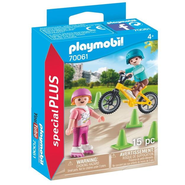 Picture of Playmobil - Children with Skates & Bike