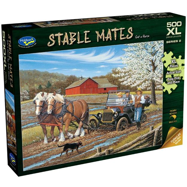 Picture of Holdson Puzzle - Stable Mates S2, 500pc XL (Get A Horse!)