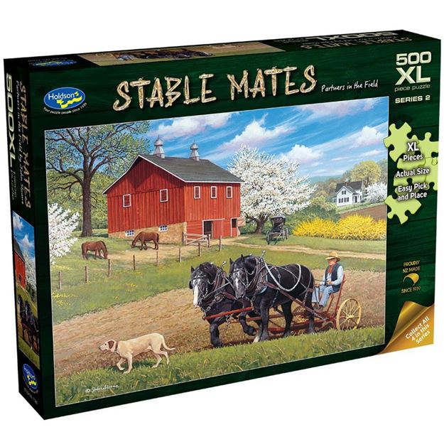 Picture of Holdson Puzzle - Stable Mates S2, 500pc XL (Partners in the Field)