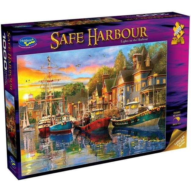 Picture of Holdson Puzzle - Safe Harbour 1000pc (Lights on the Harbour)