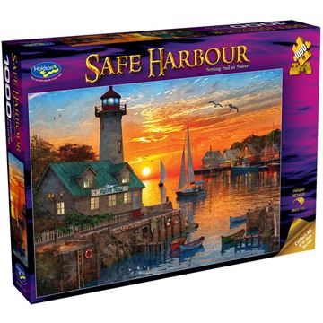 Picture of Holdson Puzzle - Safe Harbour 1000pc (Setting Sail at Sunset)