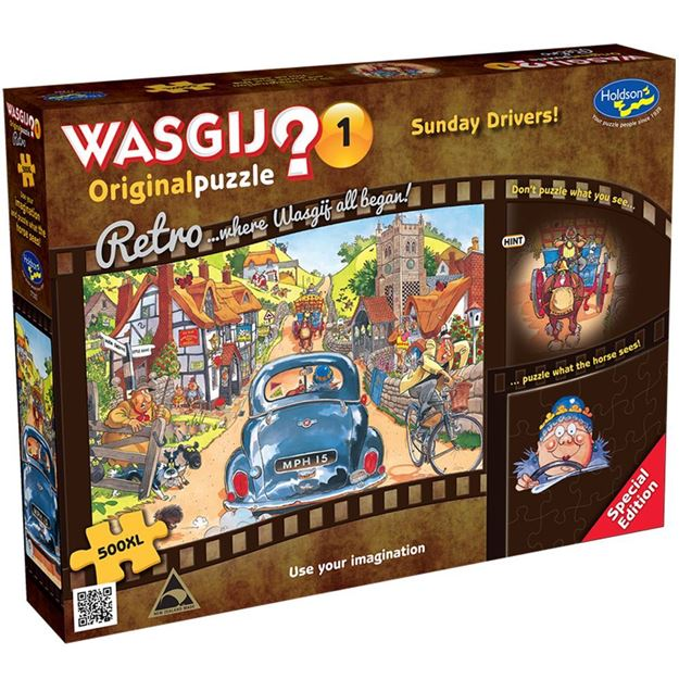 Picture of Holdson Puzzle - Retro Wasgij Original 1, 500XL pc (Sunday Drivers!)