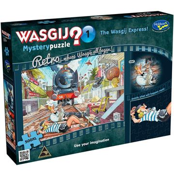 Picture of Holdson Puzzle - Retro Wasgij Mystery 1, 500XL pc (The Wasgij Express!)