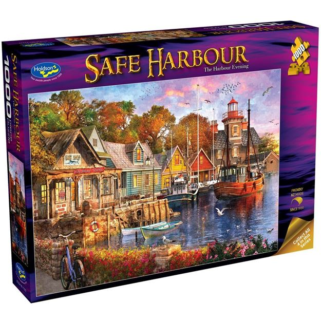 Picture of Holdson Puzzle - Safe Harbour 1000pc (The Harbour Evening)