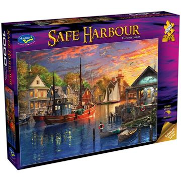 Picture of Holdson Puzzle - Safe Harbour 1000pc (Harbour Sunset)