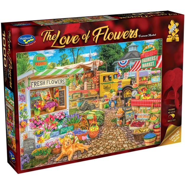 Picture of Holdson Bargain Puzzle - The Love of Flowers, 1000pc (Farmers Market)