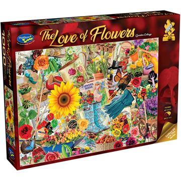 Picture of Holdson Bargain Puzzle - The Love of Flowers, 1000pc (Garden Collage)