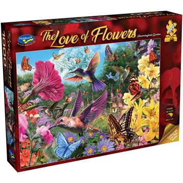 Picture of Holdson Bargain Puzzle - The Love of Flowers, 1000pc (Hummingbird Garden)