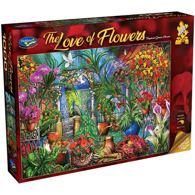 Picture of Holdson Bargain Puzzle - The Love of Flowers, 1000pc (Tropical Green House)