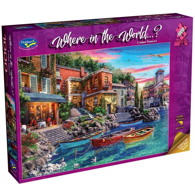 Picture of Holdson Bargain Puzzle - Where in the World 1000pc (Como Sunset)