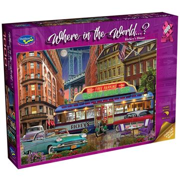 Picture of Holdson Bargain Puzzle - Where in the World 1000pc (Ricky's Diner)