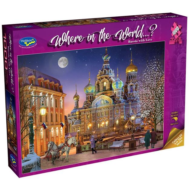 Picture of Holdson Bargain Puzzle - Where in the World 1000pc (Russia with Love)