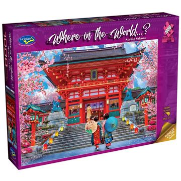 Picture of Holdson Bargain Puzzle - Where in the World 1000pc (Spring Sakura)