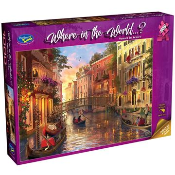 Picture of Holdson Bargain Puzzle - Where in the World 1000pc (Sunset in Venice)