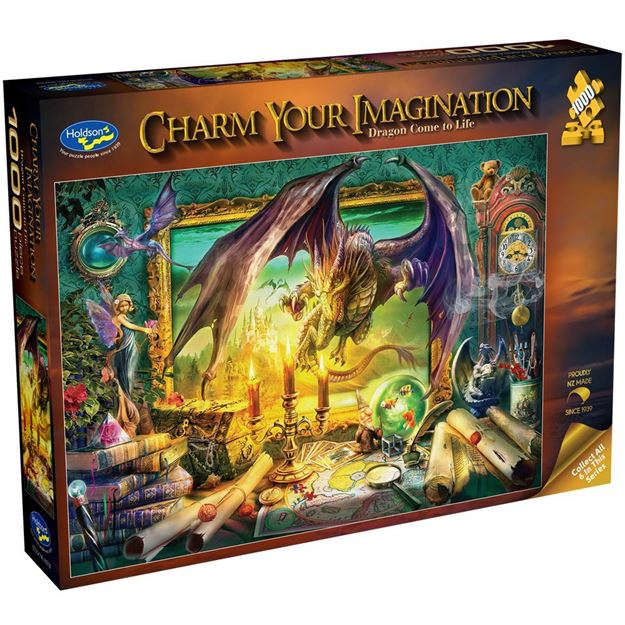 Picture of Holdson Bargain Puzzle - Charm Your Imagination, 1000pc (Dragon Come To Life)