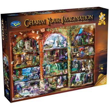 Picture of Holdson Bargain Puzzle - Charm Your Imagination, 1000pc (Enchanted Fairytale Library)