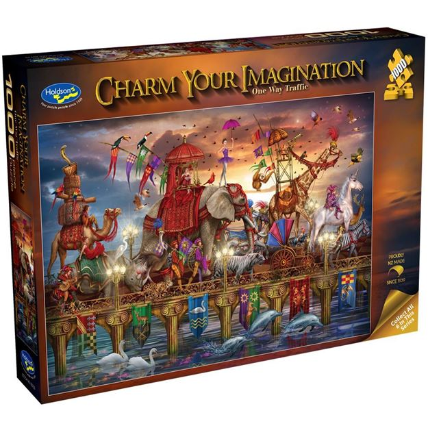 Picture of Holdson Bargain Puzzle - Charm Your Imagination, 1000pc (One Way Traffic)