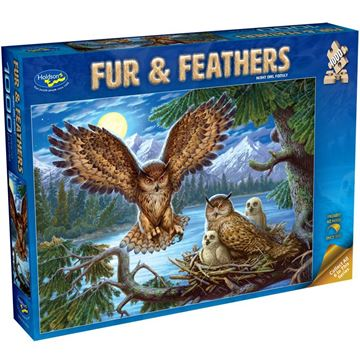 Picture of Holdson Bargain Puzzle - Fur & Feathers, 1000pc (Night Owl Family)