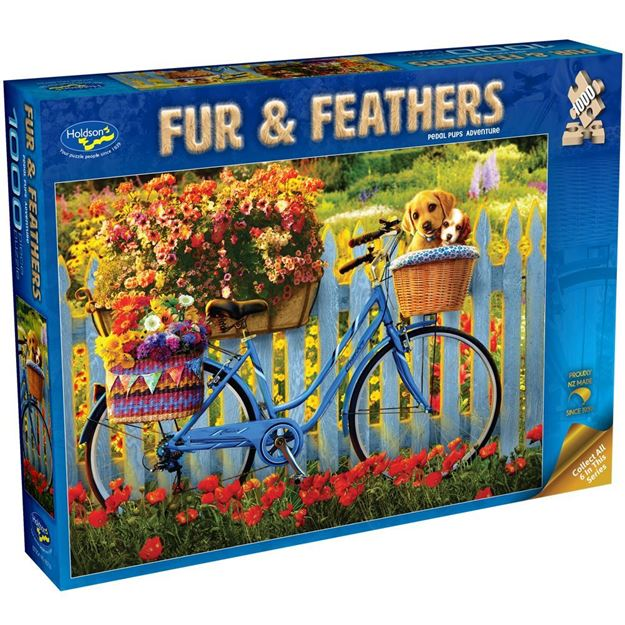 Picture of Holdson Bargain Puzzle - Fur & Feathers, 1000pc (Pedal Pups Adventure)