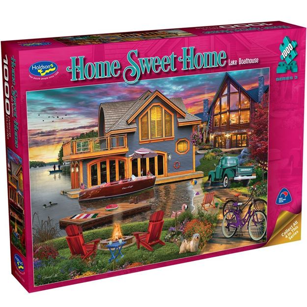 Picture of Holdson Puzzle - Home Sweet Home S3 1000pc (Lake Boathouse)