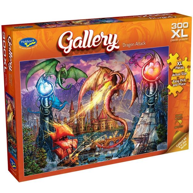 Picture of Holdson Puzzle - Gallery S7 300pc XL (Dragon Attack)