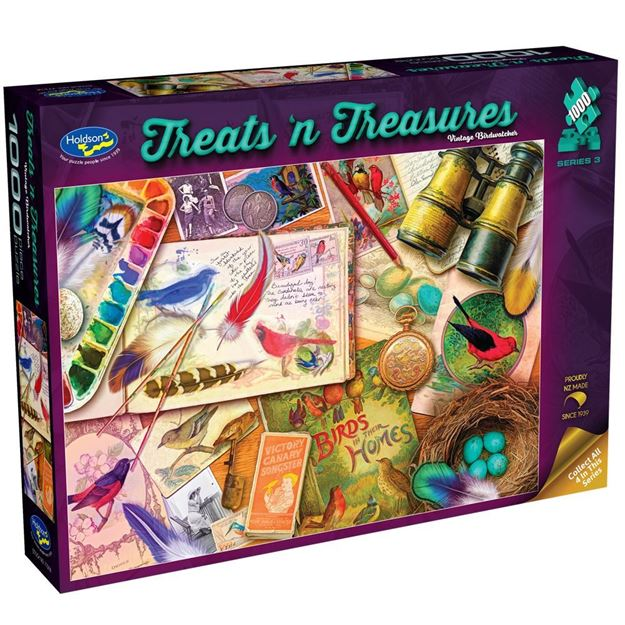 Picture of Holdson Puzzle - Treats N Treasures S3 - (Vintage Birdwatcher)