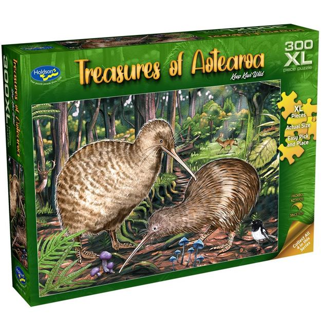 Picture of Holdson Puzzle - Treasures of Aotearoa S1 300XL pc (Keep Kiwi Wild)