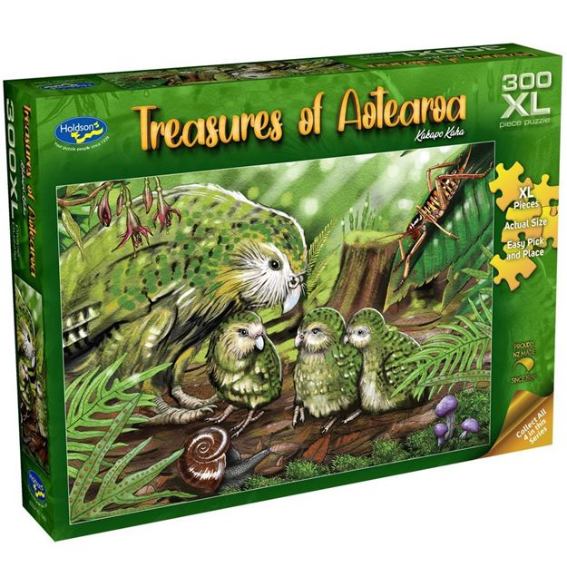 Picture of Holdson Puzzle - Treasures of Aotearoa S1 300XL pc (Kakapo Kaha)