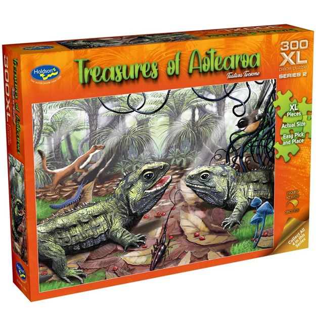Picture of Holdson Puzzle - Treasures of Aotearoa S2 300XL pc (Tuatara Twosome)