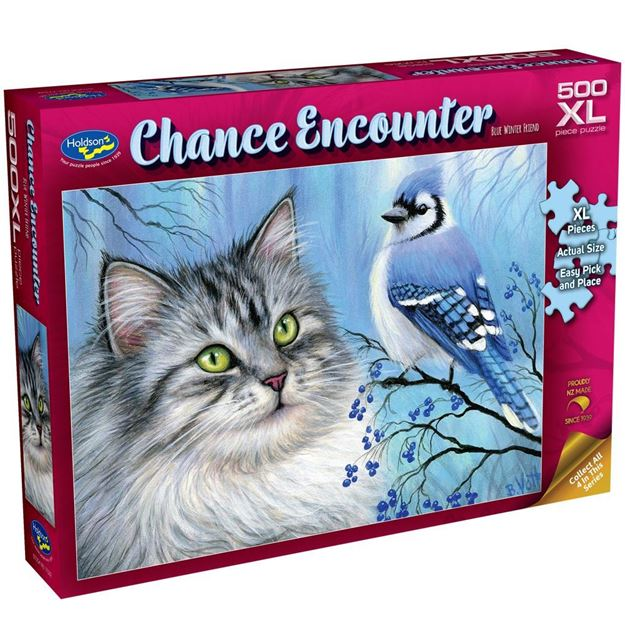 Picture of Holdson Puzzle - Chance Encounter 500XL pc (Blue Winter Friend)
