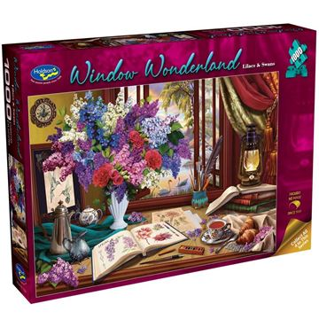 Picture of Holdson Puzzle - Window Wonderland 1000pc (Lilacs & Swans)