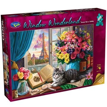 Picture of Holdson Puzzle - Window Wonderland 1000pc (Tower for a Tabby)