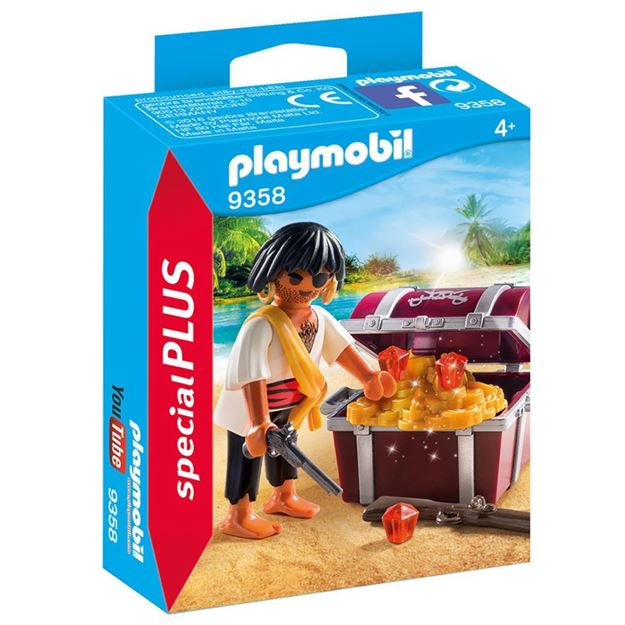 Picture of Playmobil - Pirate with Treasure Chest