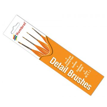 Picture of Humbrol - Sable Detail Brush Pack (4)