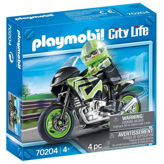 Picture of Playmobil - Motorcycle with Rider