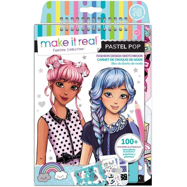 Picture of Make It Real - Fashion Sketchbook, Pastel Pop