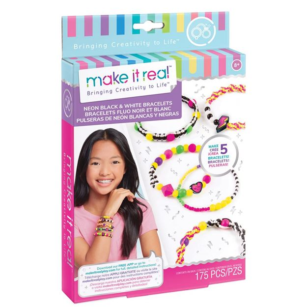 Picture of Make It Real - Neon Black & White Charm Bracelets