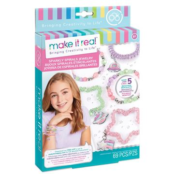 Picture of Make It Real - Sparkly Spiral Charm Bracelets