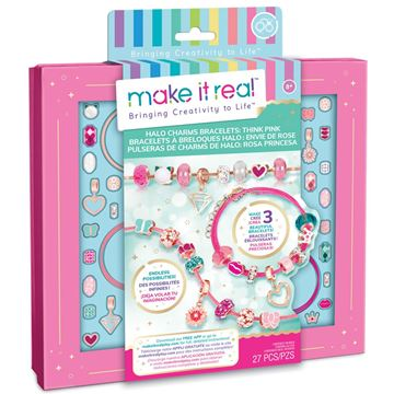 Picture of Make It Real - Think Pink Halo Charms Bracelets