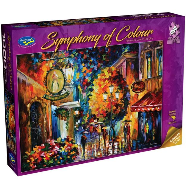 Picture of Holdson Puzzle - Symphony of Colour, 1000pc (Romantic Cafe in Old City)
