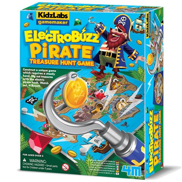 Picture of 4M Science - KidzLabs Games ElectroBuzz Pirate Treasure Hunt