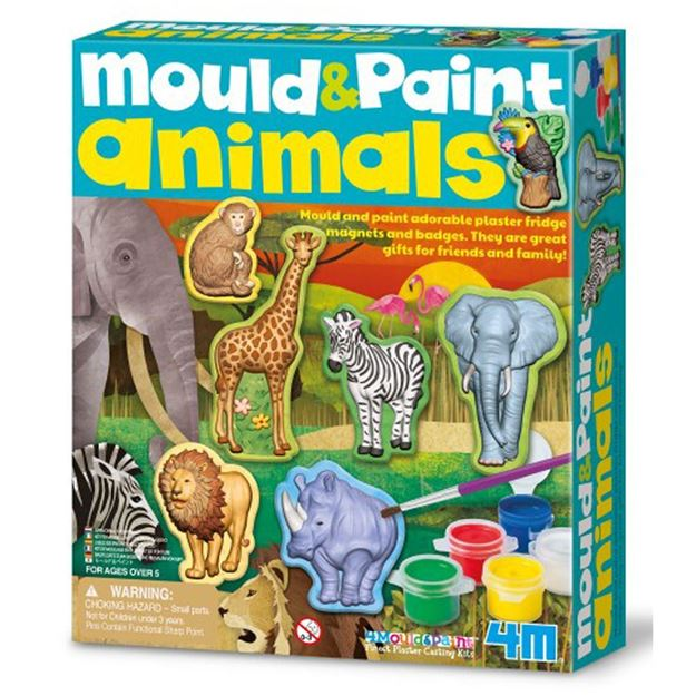 Picture of 4M Craft - Mould & Paint (Wildlife) Animals