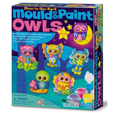 Picture of 4M Craft - Mould & Paint Owls Glow