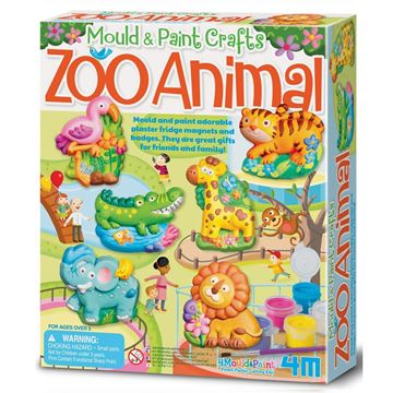 Picture of 4M Craft - Mould & Paint Zoo Animals